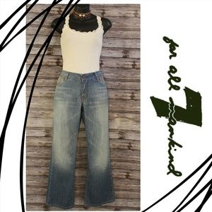 Wide Leg Med. Wash Jeans by 7 for All Mankind